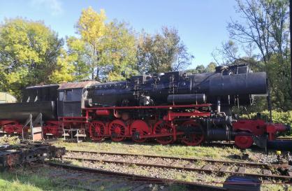 Dampflok im alten Bahnhof von Dahlhausen