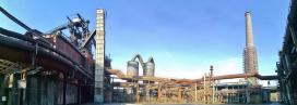 Panoramabild vom Vorplatz des Hochofens Nr. 5