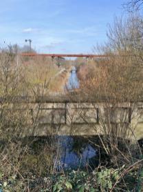 Die Alte Emscher am Landschaftspark Duisburg Nord, einst der dreckigste Fluß Europas