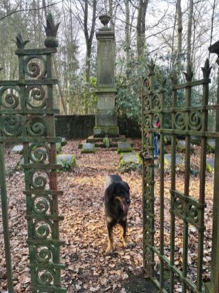 Privater Waldfriedhof oberhalb der Gederbachtals