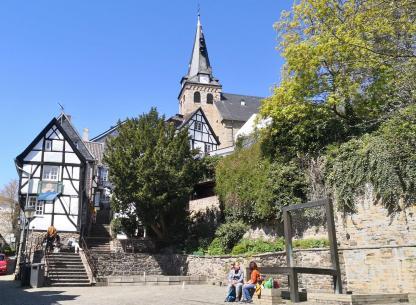 Am Weberbrunnen unterhalb der Marktkirche