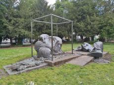 Heine Denkmal am Schwanenmarkt