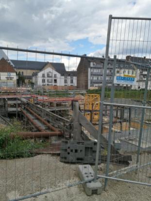 Baustelle des eingestürzten Kölner Stadtarchivs