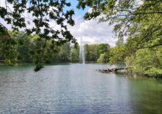 Wasserfontäne im Kaisergarten