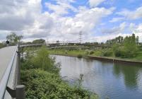 Waghalsbrücke über den Rhein-Herne-Kanal am Gehölzgarten Ripshorst