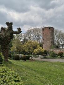 """Der Eulenturm, Teil der historischen Stadtmauer """"am Wallgarten"""""""