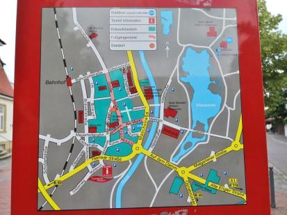 Plan der Innenstadt