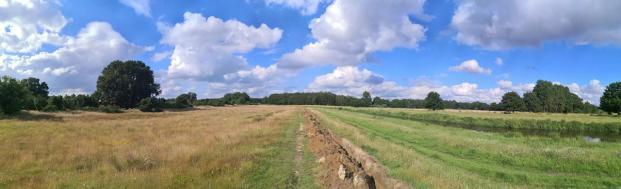 Panoramabild vom Hasebogen am Rande des Naturschutzgebiets