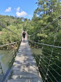 Auf der Aggerbrücke bei Ehreshoven