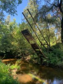 Klappbrücke über die Schwalm - länger nicht benutzt