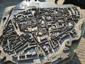 Modell der historischen Festung Deventer