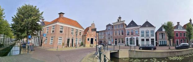 Panoramabild von der Kanalkreuzung an der Zilverstraat