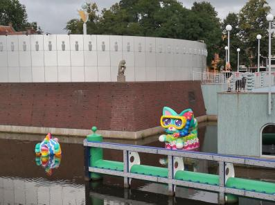 Wasserfiguren am Groninger Museum
