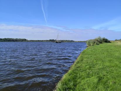 Blick von unserem Stellplatu auf das Lauwersmeer