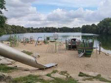 Wasserspielplatz am See