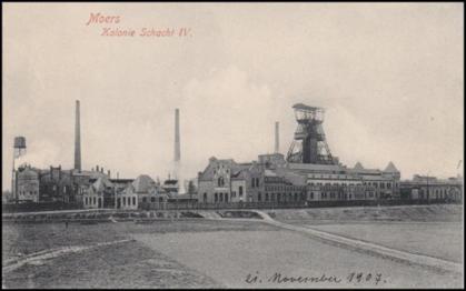 Historische Postkarte mit Blick auf die gesamte Anlage an Schacht IV