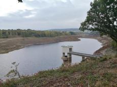 Für die Sanierung wurde das Wasser weitehend abgelassen