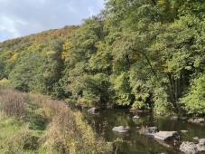 Große Findlinge im Flussbett