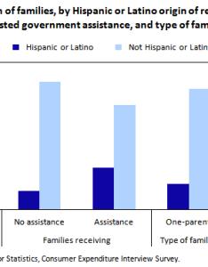 Chart percent distribution of families by hispanic or latino origin reference person also bureau labor statistics rh bls