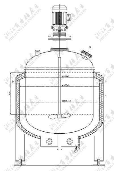 3 Layer Electrically Heated Mixing Tank