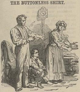 """The Buttonless Shirt,"" ""British Workman"" 2 (1855): 7."