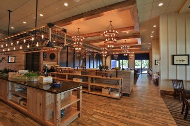 Blu Pointe has a rustic modern style dining room