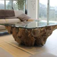 Teak Root Coffee Table  BluBambu
