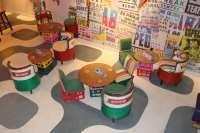 recycled oil drum seats Cabana  BluBambu