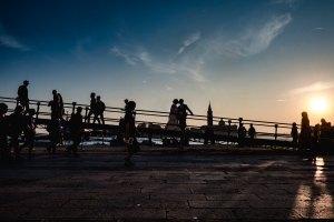 Sposi al tramonto a venezia