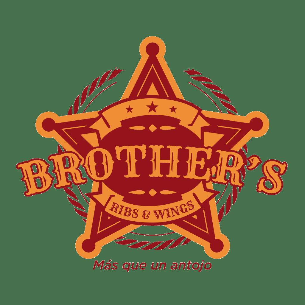 BluCactus Logotipo del Restaurante Brothers Ribs & Wings, Monterrey México