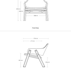 Lounge Chair Dimensions Girls Potty Clutch Modern Blu Dot