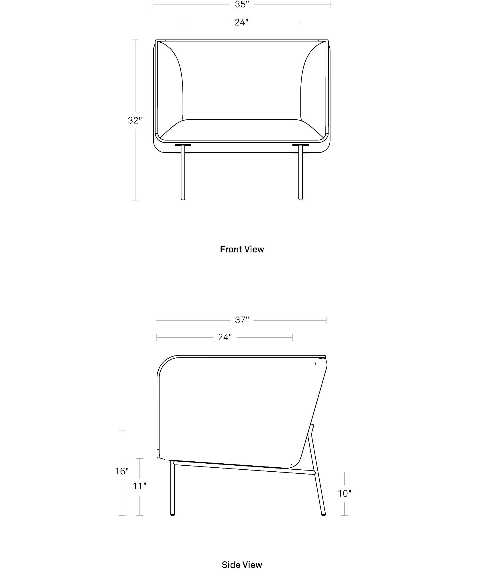 lounge chair dimensions kid chairs dandy modern leather blu dot