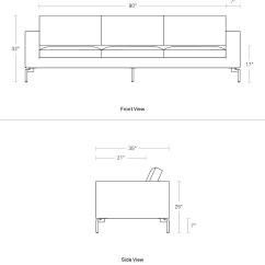 Standard Sofa Cushion Size Deep Seated New 104 Quot Large Modern Blu Dot
