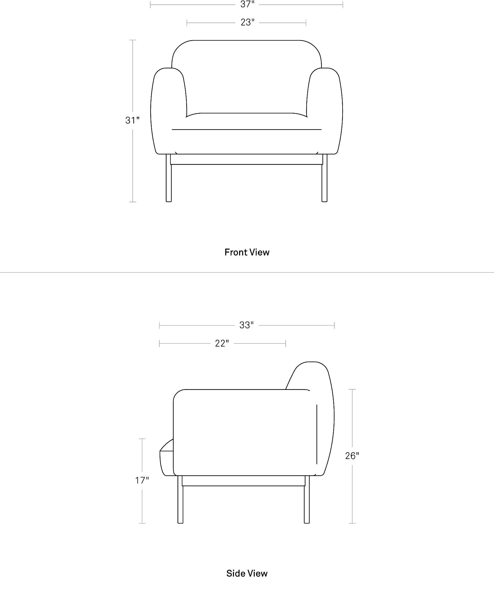 lounge chair dimensions folding for study puff modern design blu dot