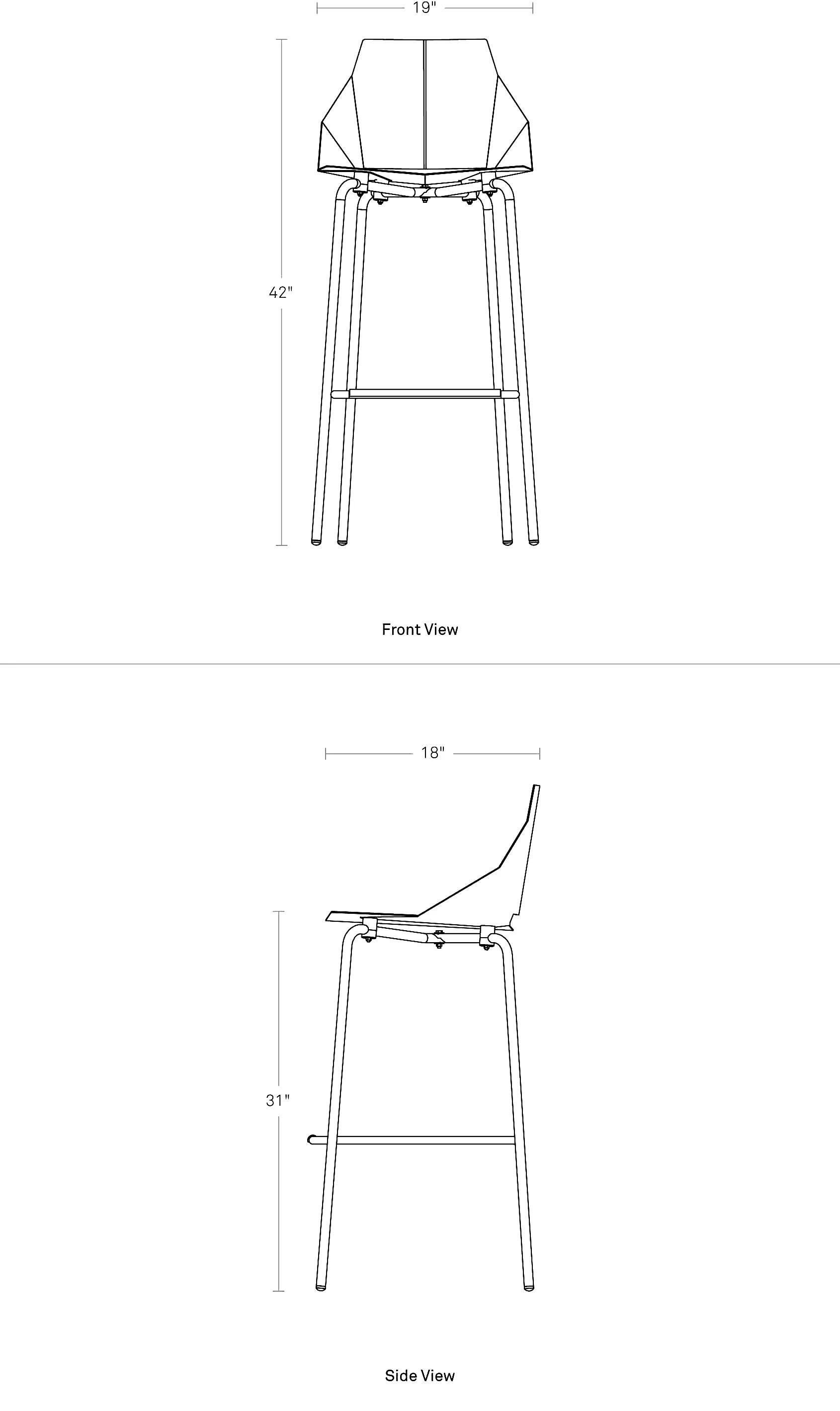 blu dot real good chair tiger print covers copper bar stool - modern stools  