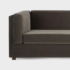 Blu Dot Bank Sofa Greige Color Sleeper Baci Living Room