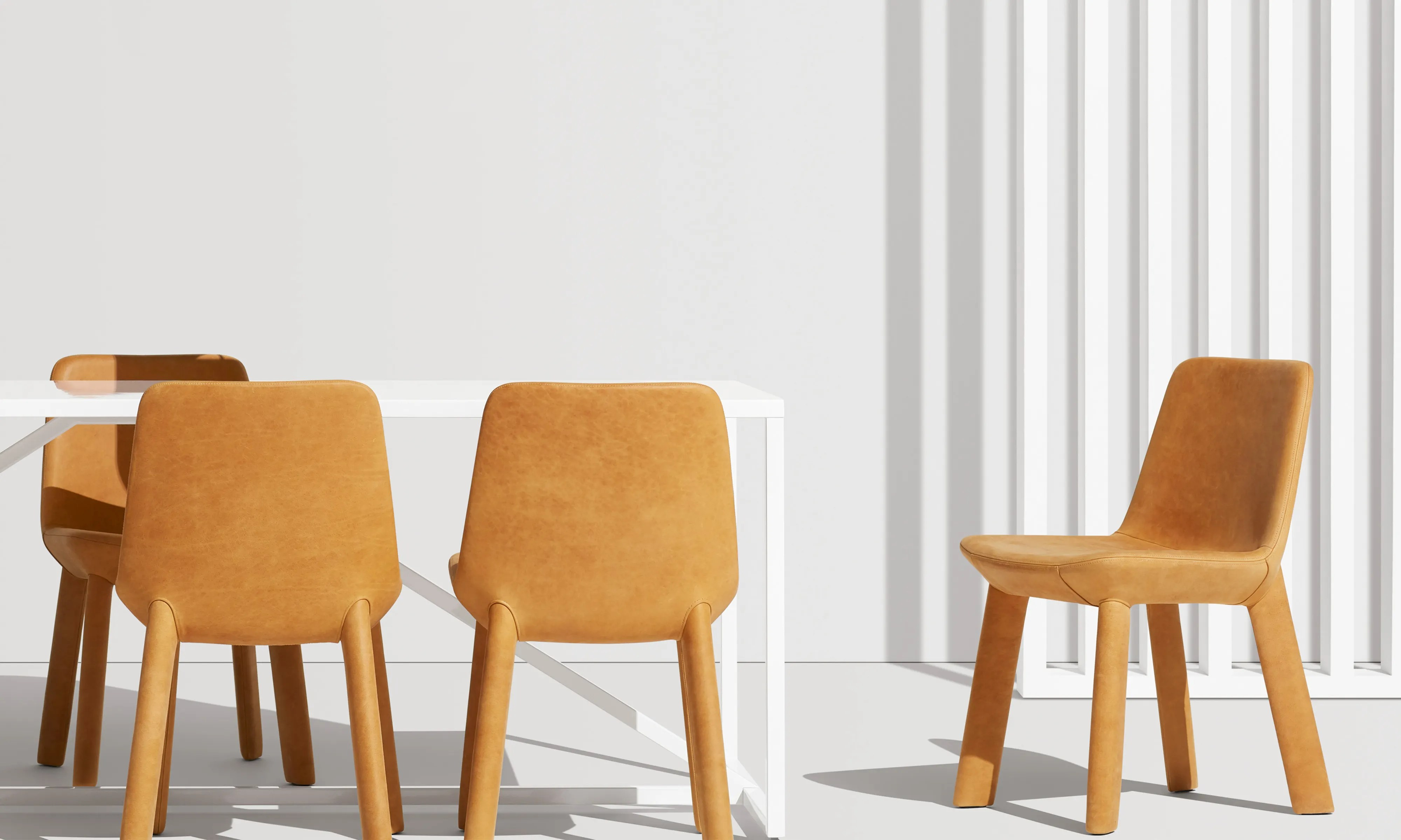 blu dot chairs mima moon high chair neat leather dining modern by