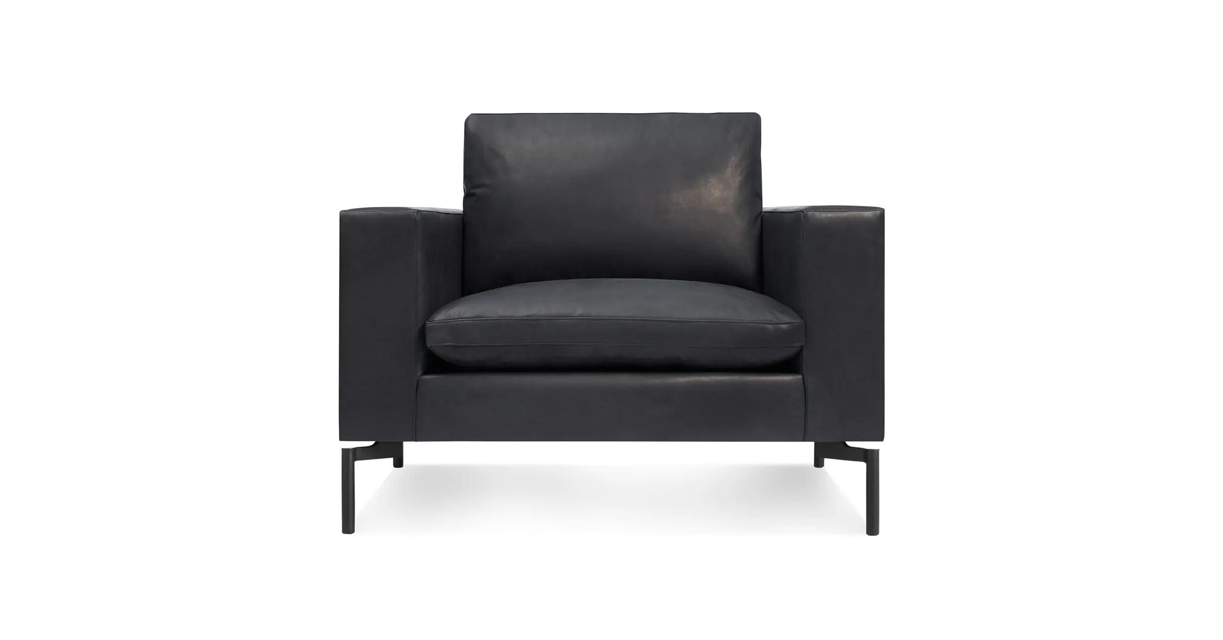 lounge chair leather fishing bass pro new standard modern blu dot