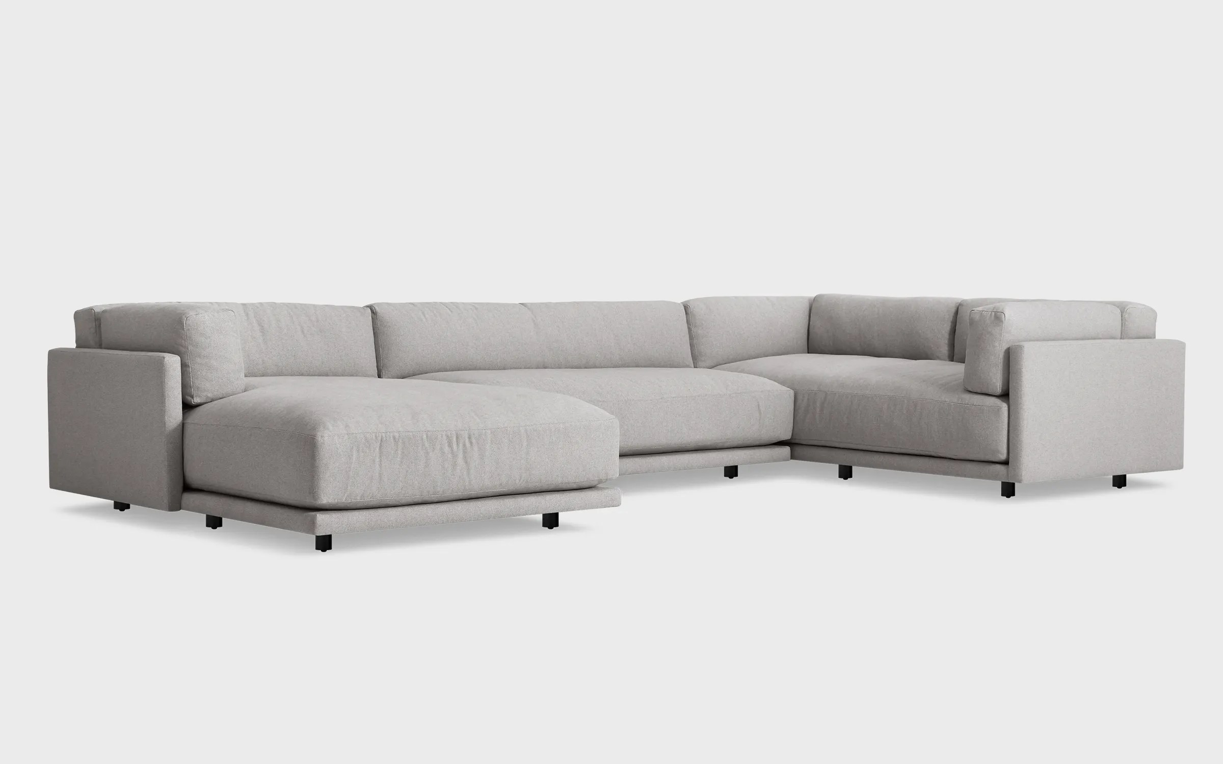 sofa w chaise get rid of old bristol sunday l sectional blu dot left arm