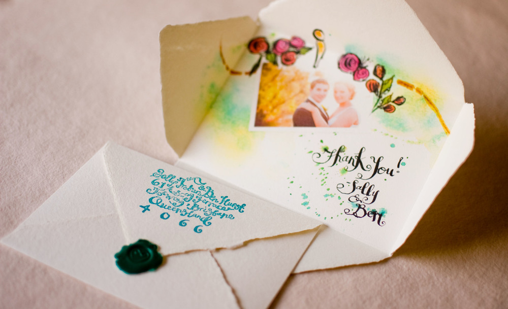 "Create a beautiful wedding ""Thank You"" note! – Blue Water Weddings"