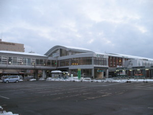 Exterior of Akita station from west side. (C) JP Rail