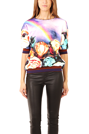 Clover Canyon Magical Sky Faux Fur Sweatshirt