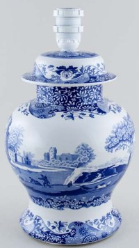 Spode Italian Table Lamp Temple c2000 | Lovers of Blue and ...