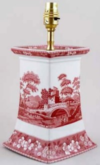 Spode Tower pink Table Lamp | Lovers of Blue and White
