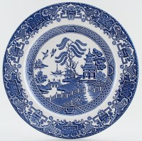 English Ironstone Tableware Willow Plate | Lovers of Blue ...