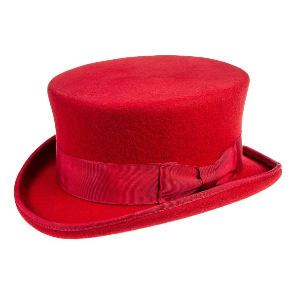 Major Wear Red Junior Top Hat Unisex Steampunk Headwear