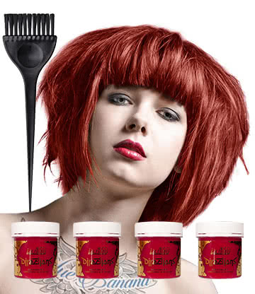 la riche directions poppy red colour hair dye 4 pack hair dye uk