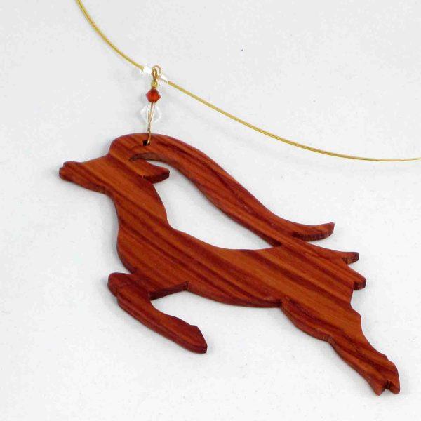 collier bois de rose impala 2 blue baobab