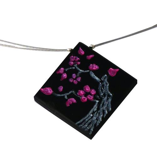 collier-cerisier-en-fleurs-ebene-argent-pendentif