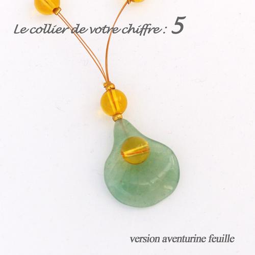 numerologie-collier-5-aventurine-pierre-vert-feuille